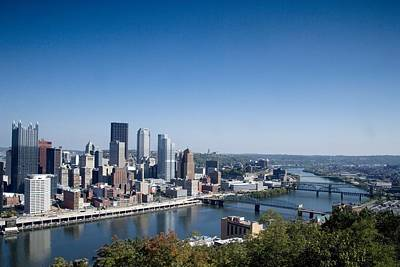 Pittsburgh Skyline And Allegheny River Art Print by Everett