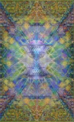 Pivortexspheres On Chalicell Garden Tapestry Ivb Art Print