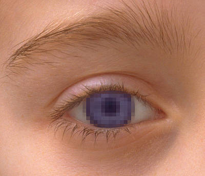 Pixellated Eye Art Print by Victor De Schwanberg