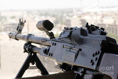 Pkm 7.62 Machine Gun Nest On Top Art Print by Terry Moore