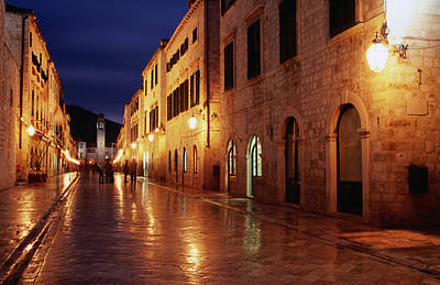 Placa At Twilight, Dubrovnik, Croatia Art Print by Lonely Planet