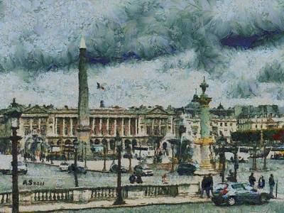 Place De La Concorde Art Print by Aaron Stokes