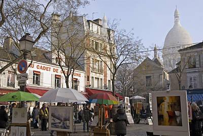 Place Du Tertre Art Print by Rod Jones