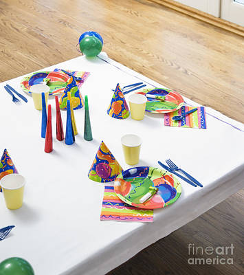 Place Settings For A Birthday Party Art Print by Andersen Ross