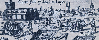 Seventeenth Century Photograph - Plague, 1665 by Science Source