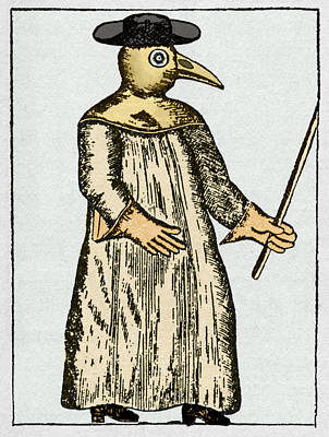Plague Doctor, France, 18th Century Art Print by Sheila Terry