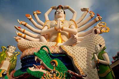 Tourism Digital Art - Plai Laem Buddha by Adrian Evans