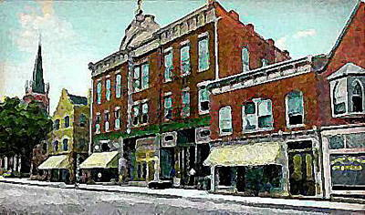 Plainfield Theatre In Plainfield N J 1907 Art Print by Dwight Goss