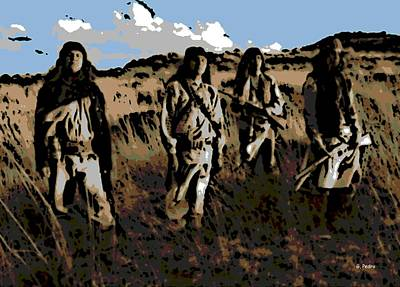 Pop Art - Plains Indians by George Pedro