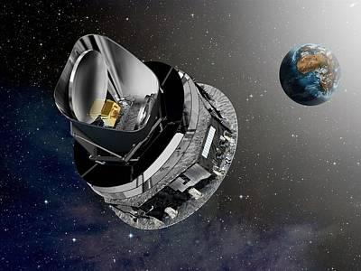 Planck Space Observatory, Artwork Art Print by David Ducros