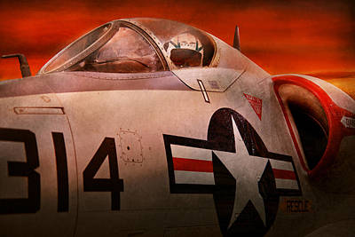 Plane - Pilot - Airforce - Go Get Em Tiger  Art Print by Mike Savad
