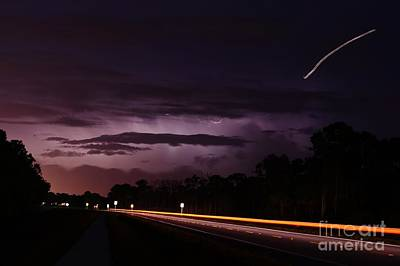 Photograph - Planes Lightning And Automobiles by Lynda Dawson-Youngclaus