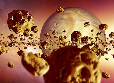 Accreting Photograph - Planet Formation, Early Solar System by Detlev Van Ravenswaay