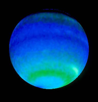 Planet Neptune, Showing Weather Patterns Art Print by Nasaesastscil.sromovsky, Uw-madison