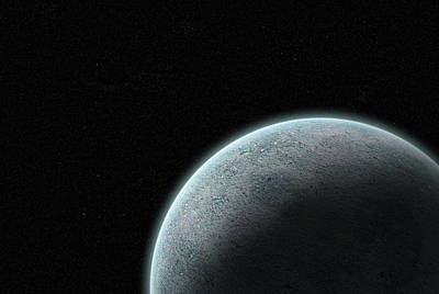 Planet With Atmosphere Art Print by Richard Newstead