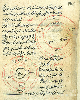 Planetary Diagram, Islamic Astronomy Art Print by Science Source