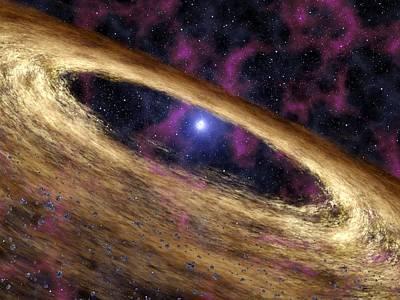 Planetary Disc Around A Pulsar, Artwork Art Print
