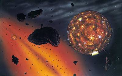 Accreting Photograph - Planetary Formation, Artwork by Richard Bizley