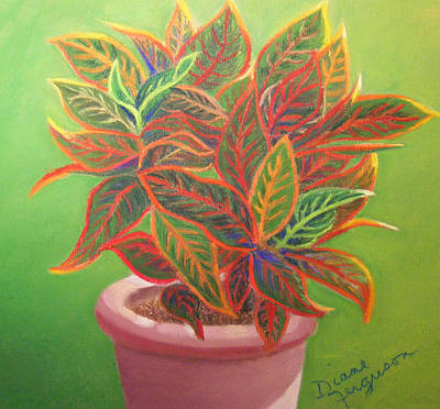 Art Print featuring the pastel Plant Portrait II by Diane Ferguson