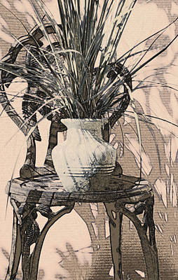 Photograph - Plant With Chair by Ginny Schmidt