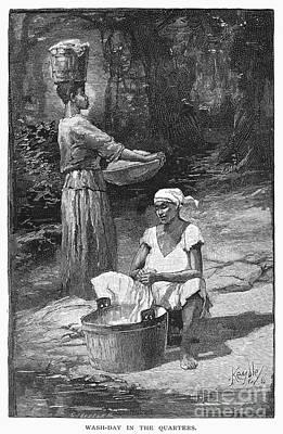 Plantation Life, 1886 Art Print by Granger
