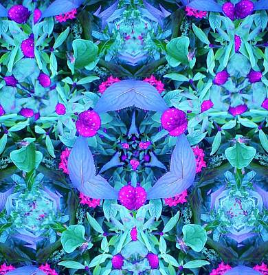 Plants In Blue Art Print by Bruce Bley