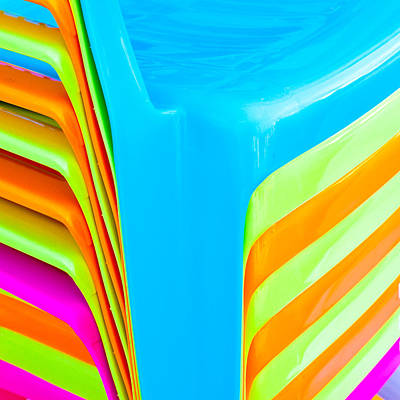 Royalty-Free and Rights-Managed Images - Plastic chairs by Tom Gowanlock