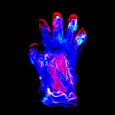 Plastic Glove, Negative Image Art Print