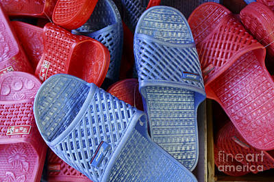 Photograph - Plastic Slippers Chinatown Vancouver by John  Mitchell