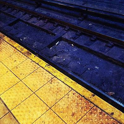 Track Photograph - Platform & Tracks by Natasha Marco