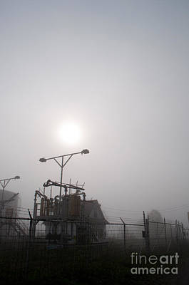 Platform At Petrocor In The Fog Art Print by Gary Chapple