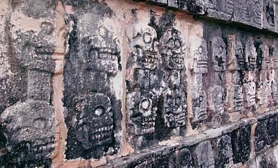 Maya Civilization Photograph - Platform Of Skulls In Chichen Itza by Carson Ganci