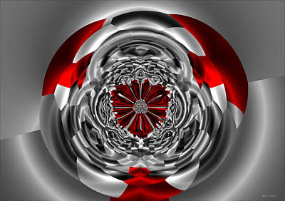 Platinum Digital Art - Platinum Ruby Red Abstract by Heinz G Mielke