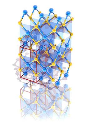 Platinum Photograph - Platinum Sulphide Crystal Structure by Laguna Design