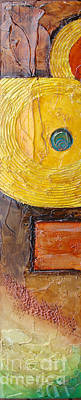 Mixed Media - Platter 3 by Phyllis Howard