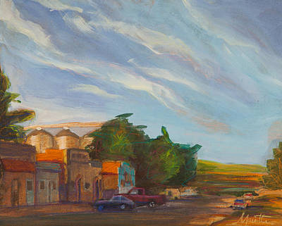 Small Town Painting - Platteville by Athena  Mantle