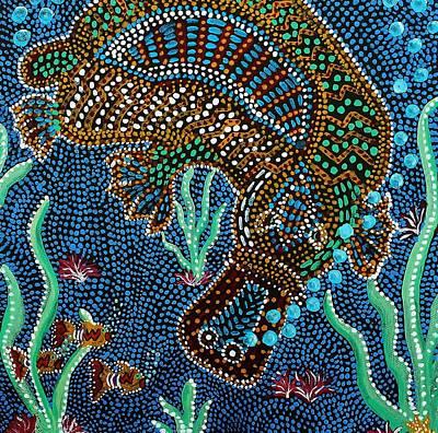 Painting - Platypus Venture by Kelly Nicodemus-Miller