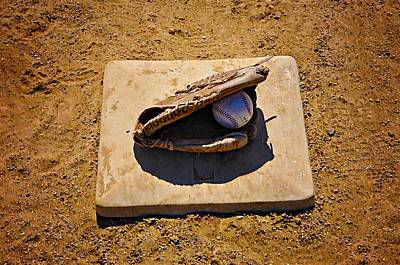 1st Base Photograph - Play Ball by Bill Cannon