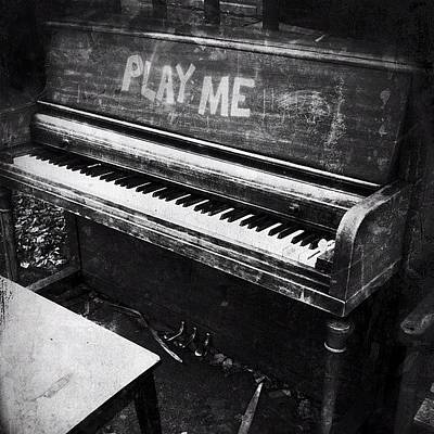 Piano Wall Art - Photograph - Play Me Edit #jj_forum_0376 #b&w by Adam T