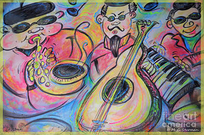 Painting - Play The Blues by M c Sturman