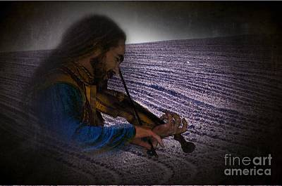 Violin Digital Art - Play The Land by The Stone Age