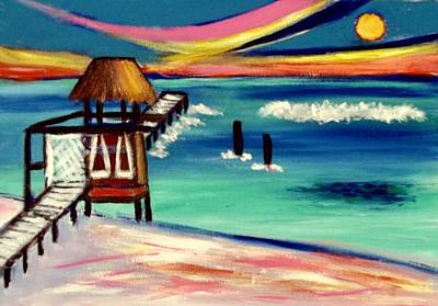 Painting - Playa Sol Sunset by Ted Hebbler