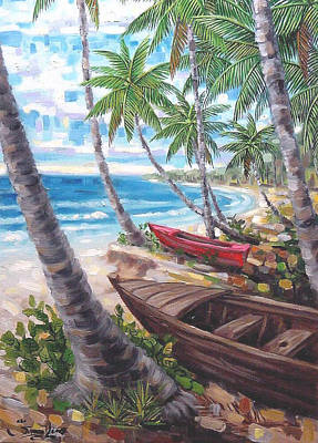 Caribe Painting - Playa Vieques by Samuel Lind