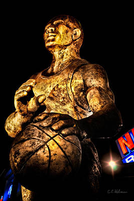 Player In Bronze Art Print by Christopher Holmes