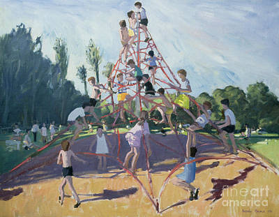 Summer Fun Painting - Playground by Andrew Macara