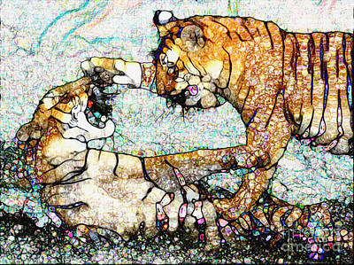 Playing Bengals Art Print