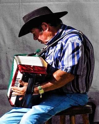 Playing For Taos Art Print by Terry Fiala