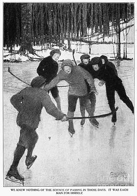 Photograph - Playing Ice Hockey, 1913 by Granger