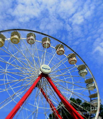Playland Ferris Wheel Art Print by Maria Scarfone