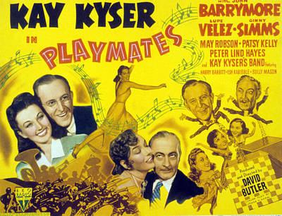 Posth Photograph - Playmates, John Barrymore, Kay Kyser by Everett
